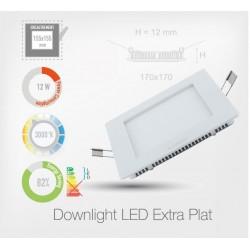 LED Carré Extra-Plat Panel-Light 12W (Cadre Blanc)