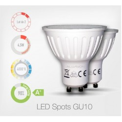 Lot de 2 LED Spots 4000K
