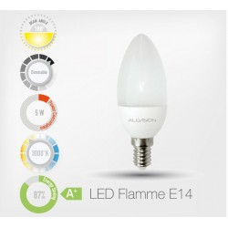 LED Flamme 5W E14 3000K (Dimmable)