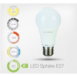 LED Sphere 10W E27 (Dimmable)